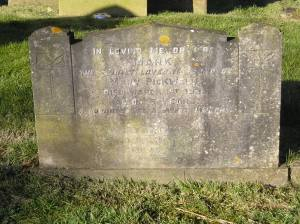 Headstone reference G3 Plan 4 - Pickwell, Mark & Pickwell, Mary