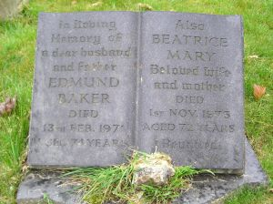 Headstone reference G43 Plan 4 - Baker, Edmund & Baker, Beatrice Mary