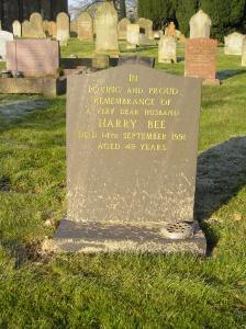 Headstone reference G56 Plan 4 - Bee, Harry