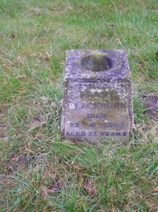 Headstone reference G37 Plan 4 - Blackburn, Frank