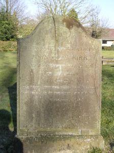 Headstone refernce G22 Plan 4 - Kirk, John Clay
