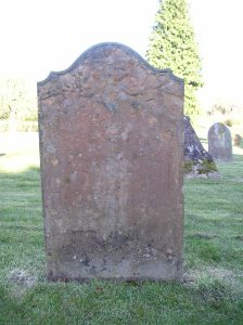 Headstone reference G18 Plan 4 - unreadable