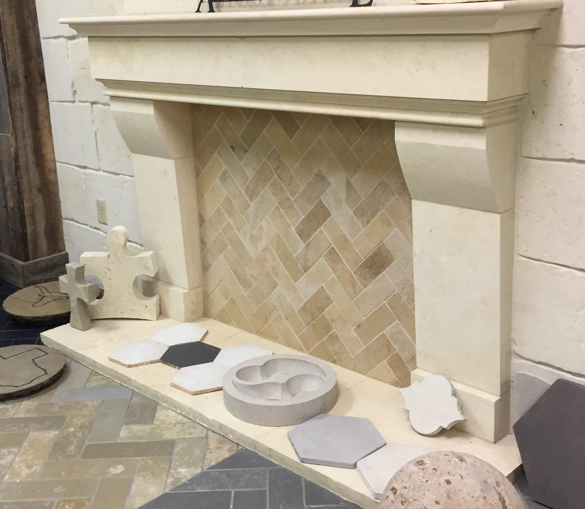 Limestone Natural Stone Fireplace Surround