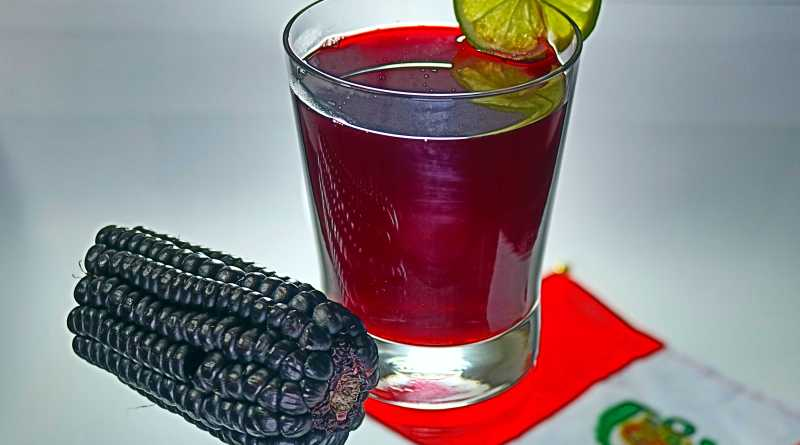 Chicha morada- a drink made from brewed purple corn