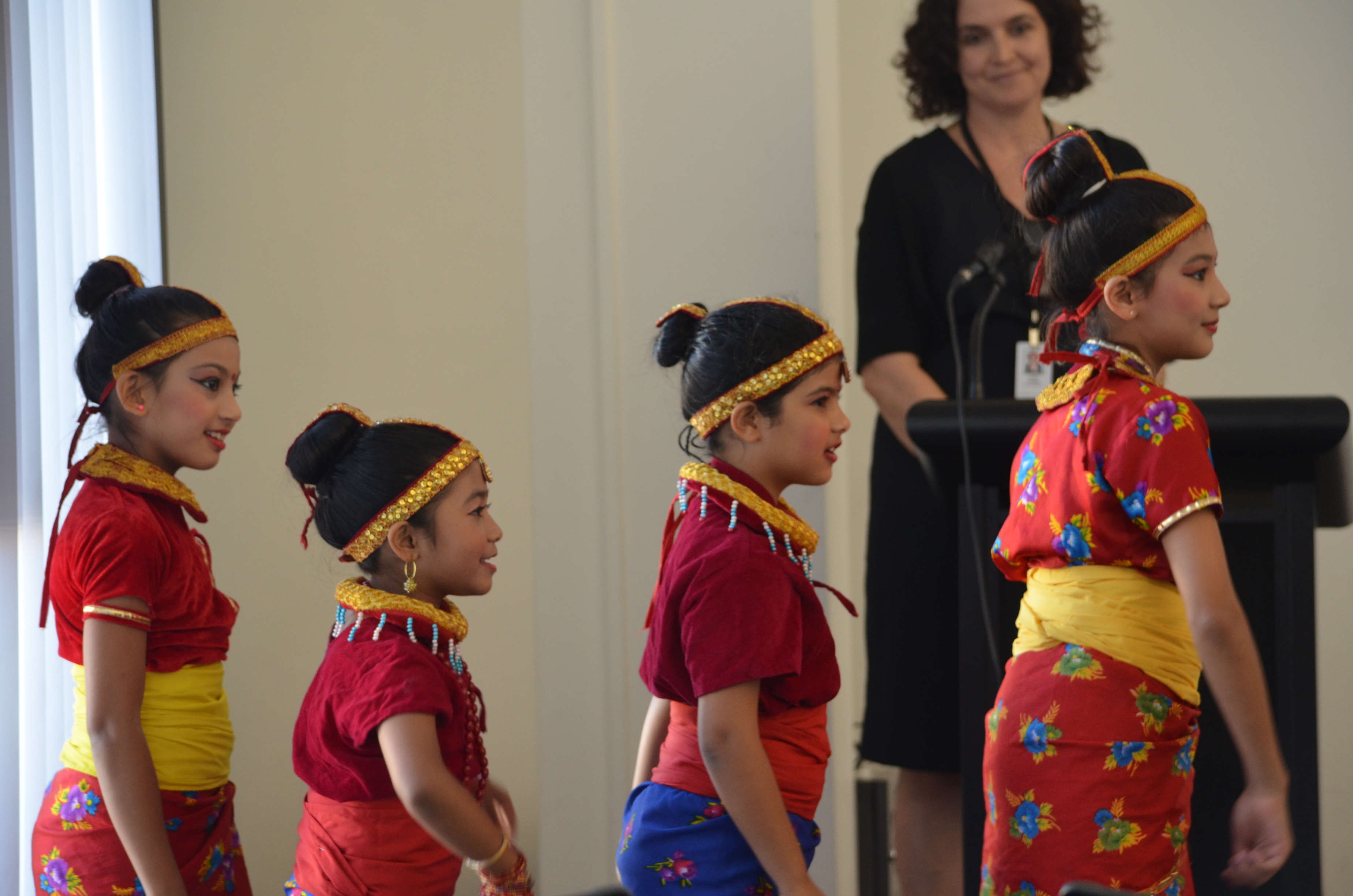Fastest growing australian community excited to borrow nepali books traditionally dressed nepali girls performing at the inaugural ceremony of the nepali language section at hurstville library also in the picture is the ccuart Images