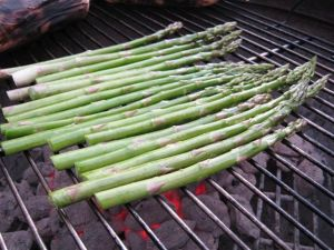 Grilling Asparagus - Perpendicular to the Grate!