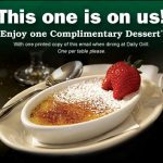 Free Dessert at Daily Grill