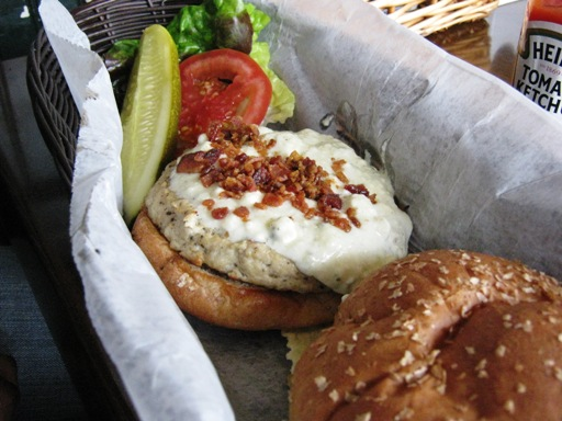 <p>The Bleu Cheese Burger with Turkey Patty</p>