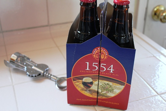 A Six Pack of new Belgium Brewing Company's 1554 Black Ale.