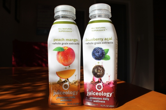 The Two Flavors We Tried: Peach Mango and Blueberry Açai.