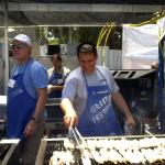 Grillin' the kabob at last year's event
