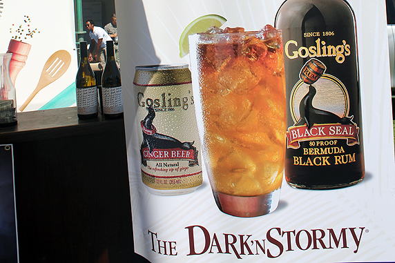 Goslings Black Rum mixes up nicely with ginger beer in their signature cocktail, the Dark 'n Stormy.