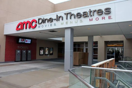 AMC Dine-In Theatre, Marina Del Rey, Opens on Monday December 3, 2012.  The venue combines a luxury movie-watching experience with in-seat dining