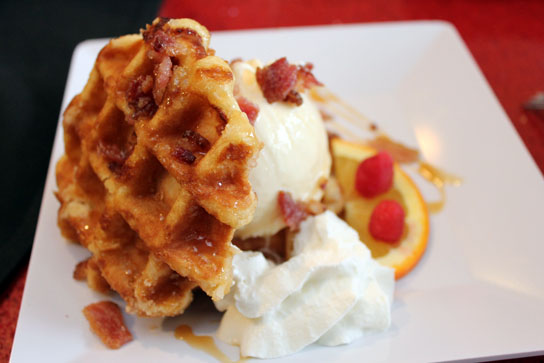 The Waffle Sundae is reported to be one of the best sellers at AMC Dine-In Theatre locations
