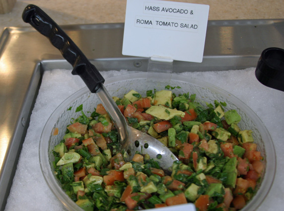 Hass avocado Roma tomato salad