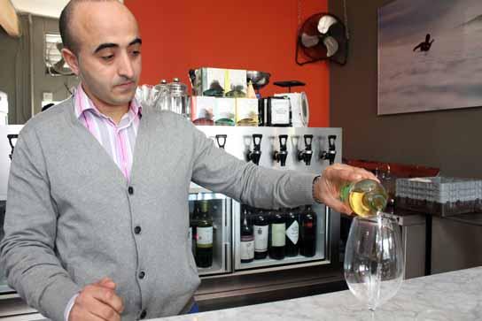 Adnen, the sommelier at Barsha, chooses wine flights each week.