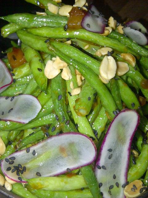 Blistering blue lake green beans