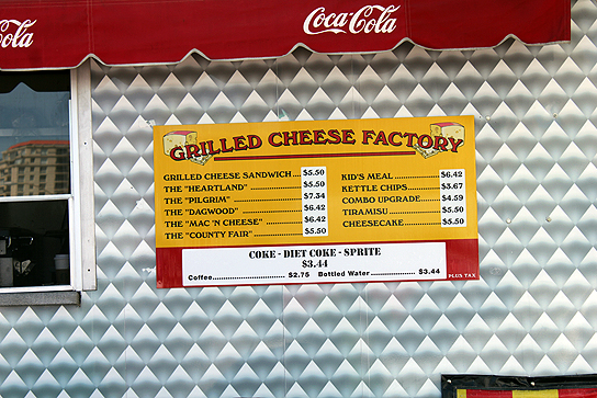 Plan your budget for the grilled cheese factory.