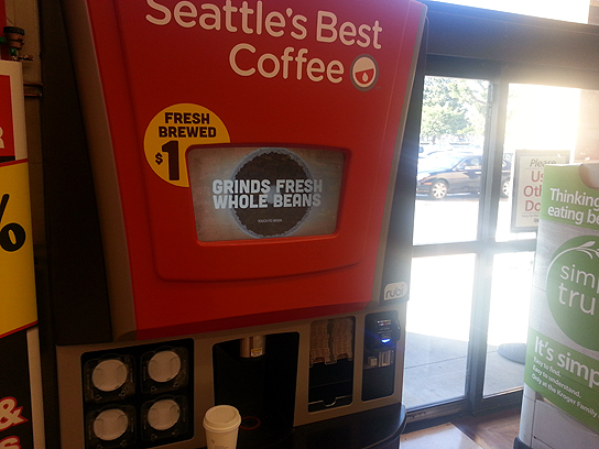 Rubi is basically a Seattle's Best Coffee vending machine.