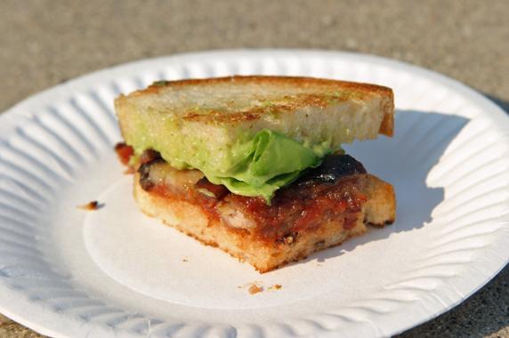 Short Order's pork belly, bacon, lettuce and tomato jam