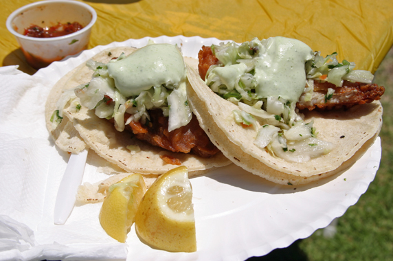 The best fish tacos I've ever had!