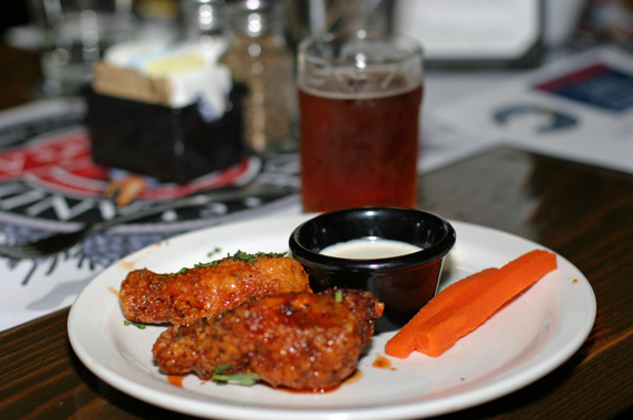 Asian Wings with Harvest Ale