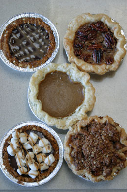Fresh baked pies by Front Porch Pops