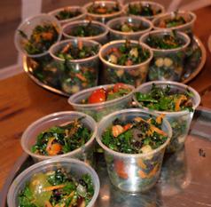 Kale salad with herb vinagarette