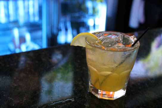The Sour Rocke - Bushmills, Fresh Lemon Juice, and Marmalade.