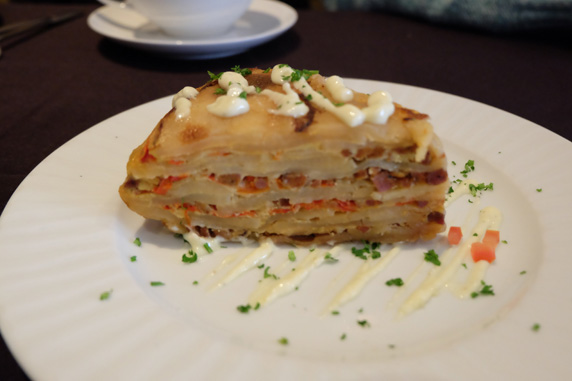 Tortilla Española - potato, egg, chorizo and onion torte