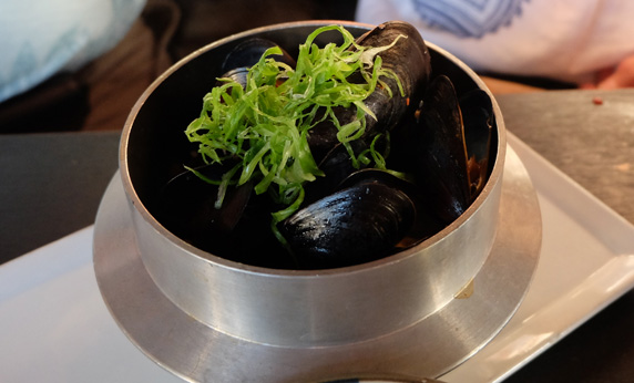 Moules Marineres in a white wine sauce