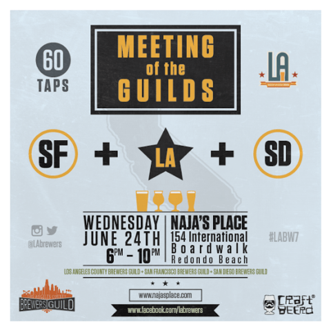 LA BEER WEEK 2015 NAJAs PLACE MEETING OF THE GUILDS POSTER
