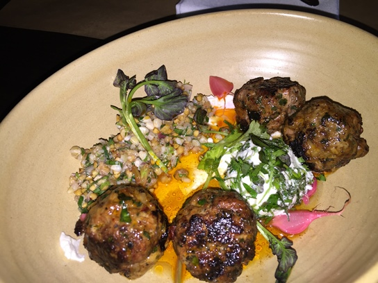 The grilled lamb meatballs
