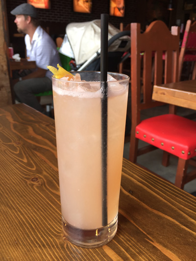 La Paloma with tequila blanco, damiana, agave, fresh lime juice