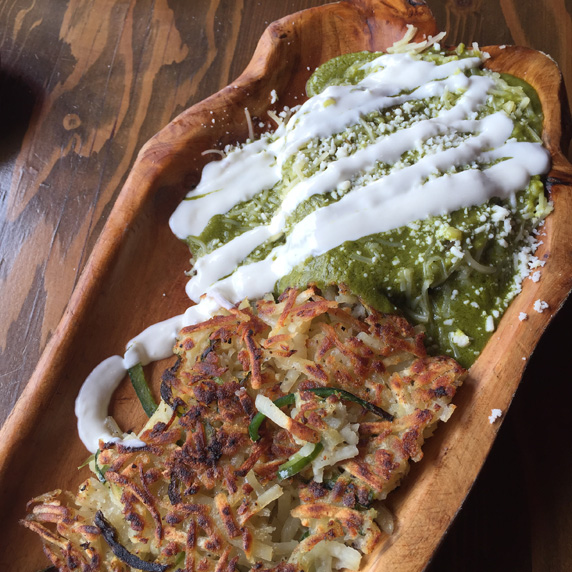 Chile Relleno with Poblano Hash Browns