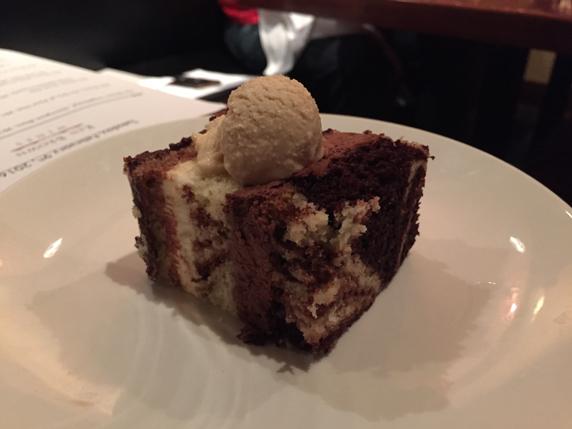 Tuxedo Cake with Homemade Peanut Butter Ice Cream