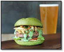 Hopdoddy's Green Eggs & Ham Burger