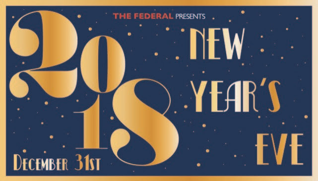 New Years Eve at the Federal Bar features three parties to choose from.