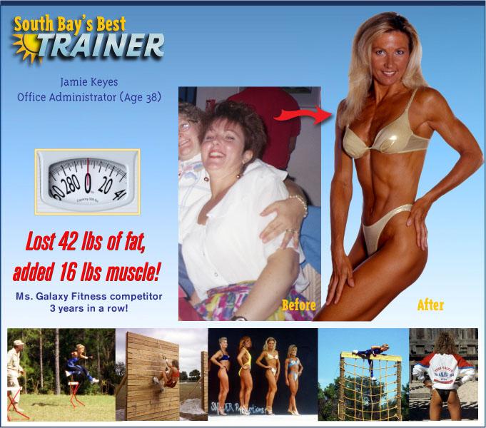 weight loss testimonial personal trainer fat loss program - Jamie Keyes