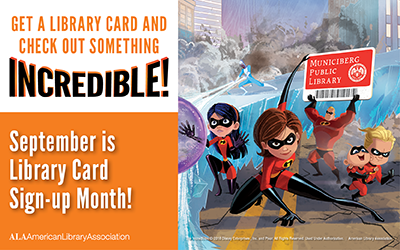 September- Library Card Sign Up Month