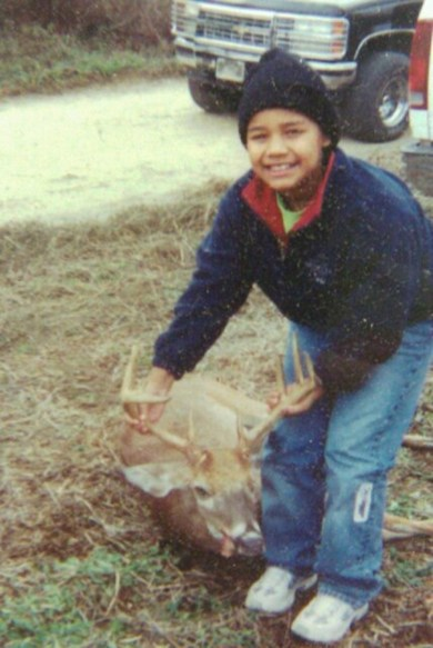 One of Anastasia's favorite hunting trips where she and her father took this buck together