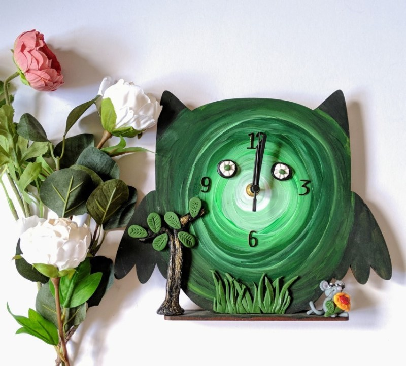 Forest Owl Clock