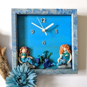Sparkling Mermaids clock