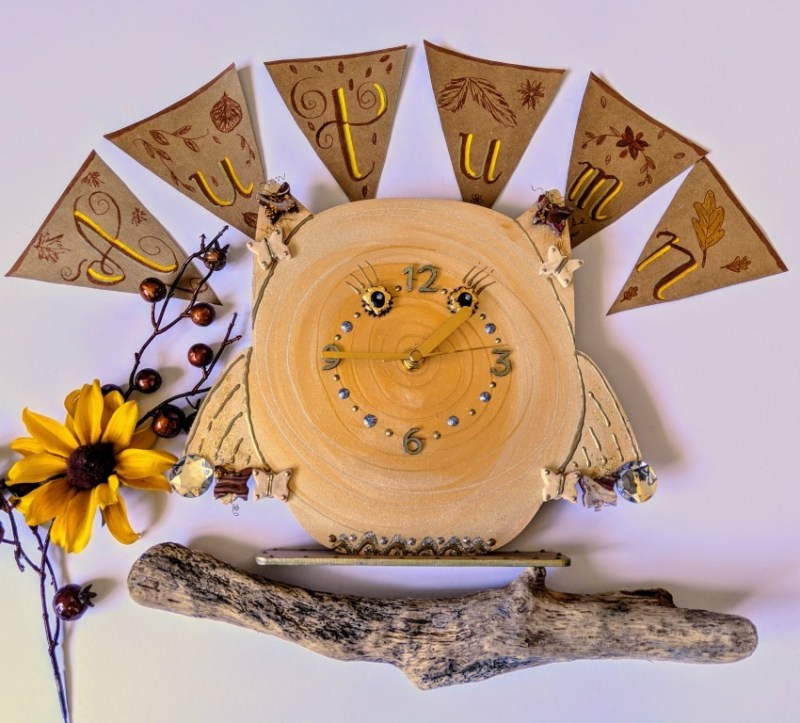 Golden Owl Clock