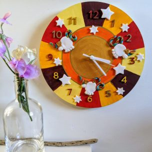 The Oranges Unicorn clock