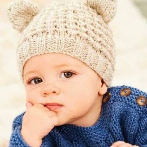 Knitted Teddy Hat with ears