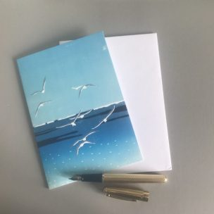 Scale image Seagulls card