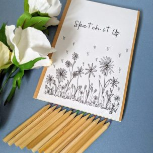 Wild Flowers - Colour it yourself Notebook