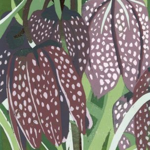 Fritillary Limited Edition Reduction Lino Print unframed