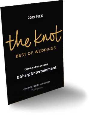 B-Sharp Entertainment is awarded 2019's Best Of Weddings by TheKnot.com
